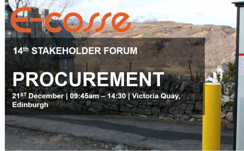 Speaker Presentations: E-Cosse 14th Stakeholder Forum - Procurement & Deployment