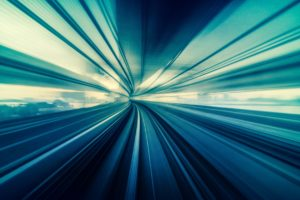 Abstract Moving Motion blur of Line moving between tunnel, futur